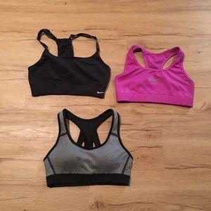 Nike, champion sports bras